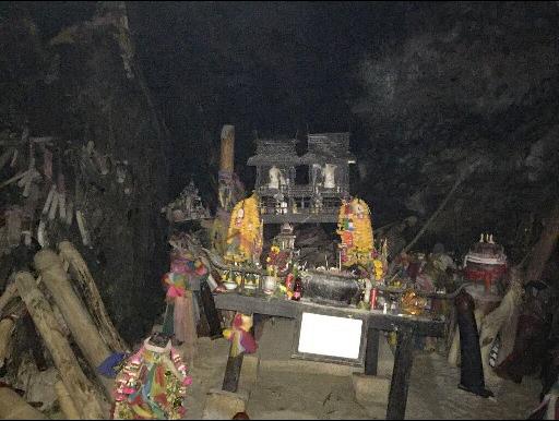 Het altaar in de Cave of the Princess